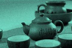 Чайная церемония улун - в бирюзовом цвете