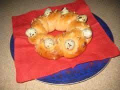 Пасхальное гнездо - красный рецепт, с вишней, от Zima