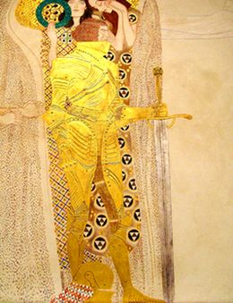 Gustav Klimt The Golden Knight from the Beethoven Frieze 1905
