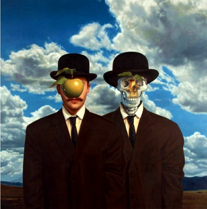 Ron English - Stereo Magritte