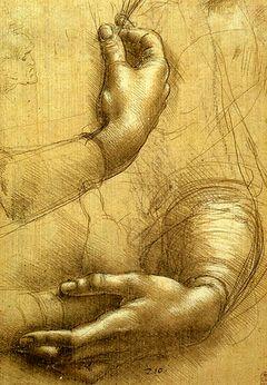 Эскиз рук работы Леонардо да Винчи
