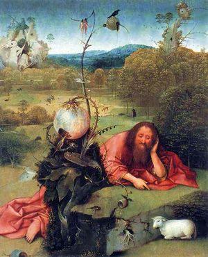 Иероним Босх фрагмент картины Иоанн Креститель