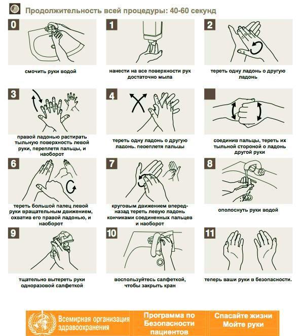 Памятка гигиены рук