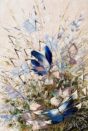Бабочки в голубом работы Дмитрия Кустановича