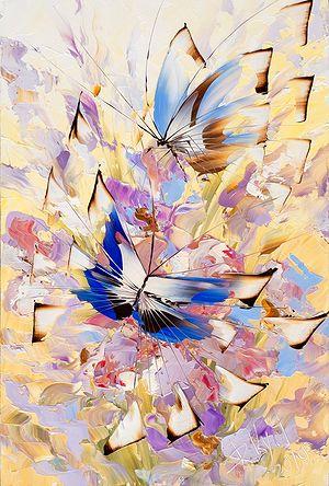 Бабочки в кремовом работы Дмитрия Кустановича