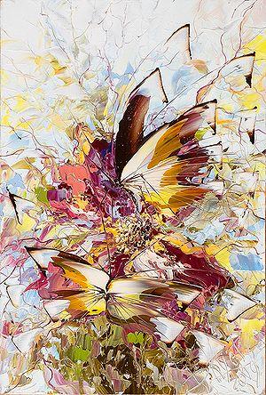 Бабочки как шампанское работы Дмитрия Кустановича