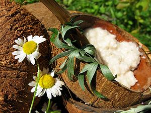 Летний рецепт для кожи из кокоса и полыни