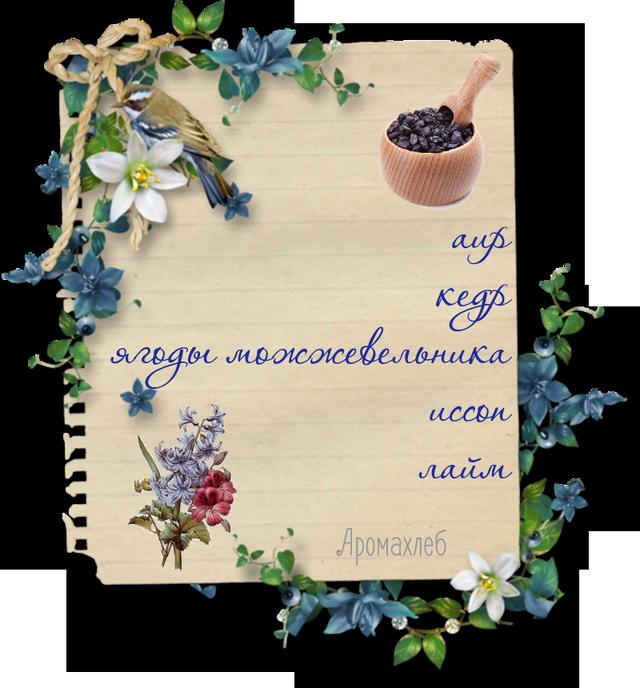 Ароматические композиции в рецепте Аромахлеб